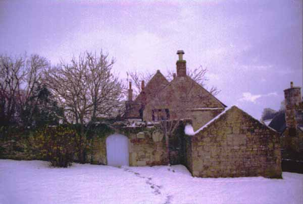 Abbotsbury in the snow - late evening (1), by Andrew Green