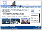 my original design for the DSB Offshore website