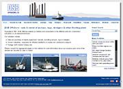 my original design for the DSB Offshore website
